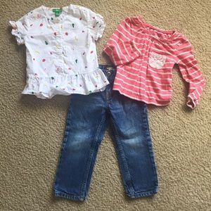 Osh Kosh, DIP, Cherokee Shirt / Pant Bundle 2T